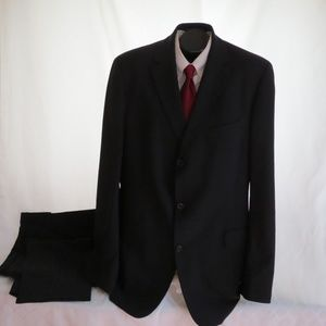 Hugo Boss Black Wool 3 Button Suit 46L 38X38